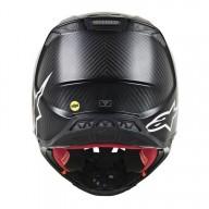 Motocross Helm Alpinestars S-M10 Solid Black Matte Carbon
