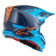 Casque Motocross Alpinestars S-M10 Meta Aqua Orange