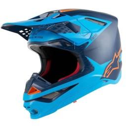 Casco Motocross Alpinestars S-M10 Meta Aqua Orange,Caschi Motocross