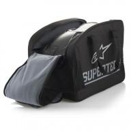 Motocross Helmet Alpinestars S-M10 Meta Aqua Orange