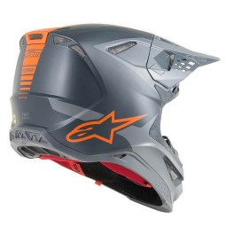 Casco Motocross Alpinestars S-M10 Meta Anthracite Orange,Caschi Motocross