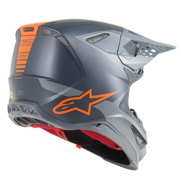 Casco de Motocross Alpinestars S-M10 Meta Anthracite Orange