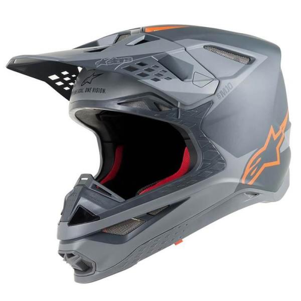 Motocross Helm Alpinestars S-M10 Meta Anthracite Orange