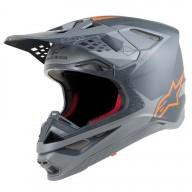 Casque Motocross Alpinestars S-M10 Meta Anthracite Orange