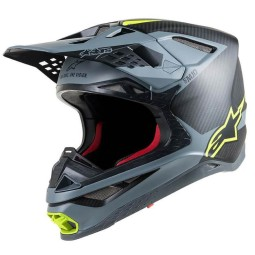 Casco Motocross Alpinestars S-M10 Meta Black Yellow,Caschi Motocross