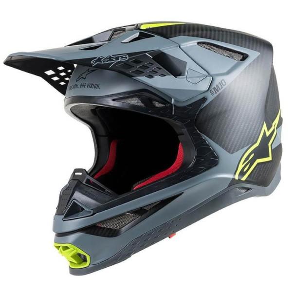 Casque Motocross Alpinestars S-M10 Meta Black Yellow