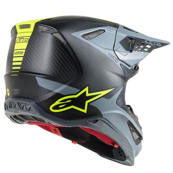 Casco de Motocross Alpinestars S-M10 Meta Black Yellow