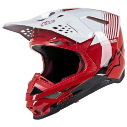 Casco Motocross Alpinestars S-M10 Dyno Red White,Caschi Motocross