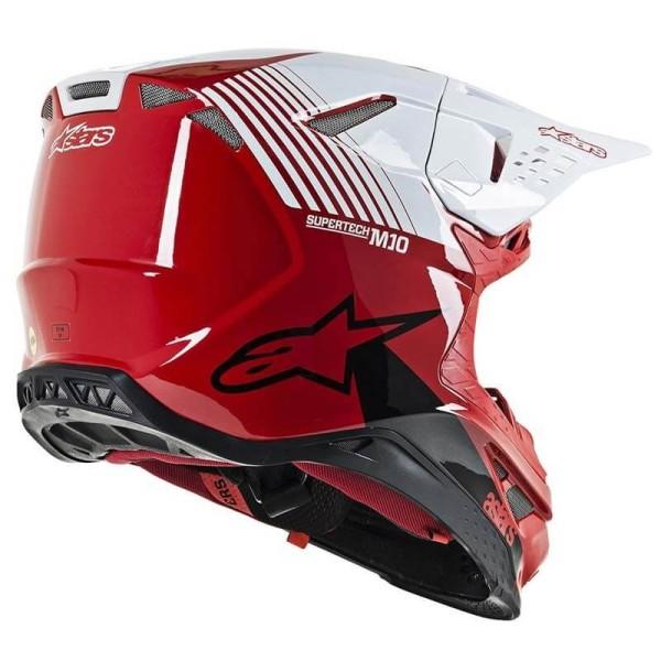 Motocross Helm Alpinestars S-M10 Dyno Red White