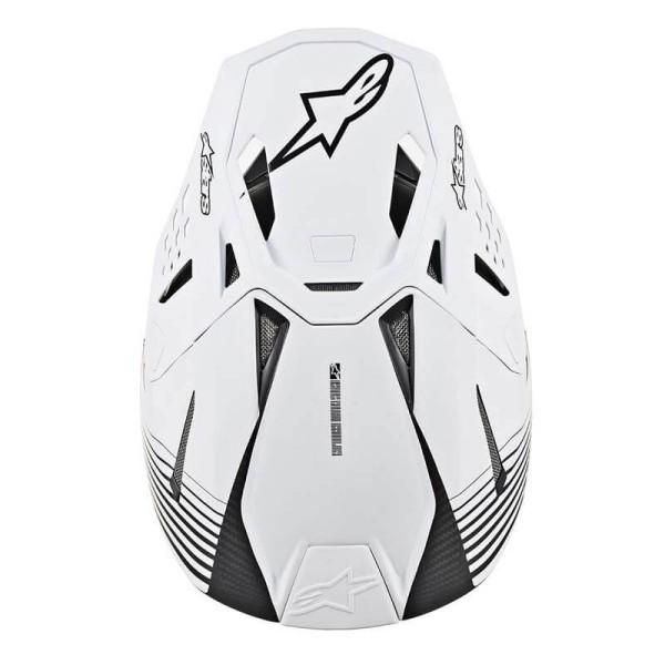 Casque Motocross Alpinestars S-M10 Dyno Black White