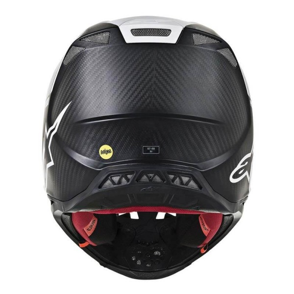 Motocross Helmet Alpinestars S-M10 Dyno Black White