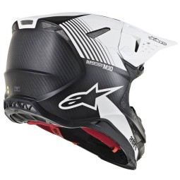 Casco de Motocross Alpinestars S-M10 Dyno Black White,Cascos Motocross
