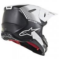 Motocross Helm Alpinestars S-M10 Dyno Black White