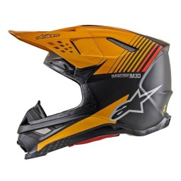 Motocross Helmet Alpinestars S-M10 Dyno Black Orange,Motocross Helmets