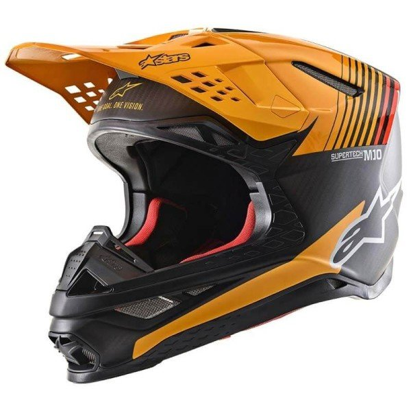 Casco Motocross Alpinestars S-M10 Dyno Black Orange
