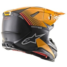 Motocross Helm Alpinestars S-M10 Dyno Black Orange