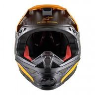 Motocross Helm Alpinestars S-M10 Dyno Black Orange