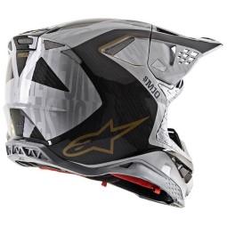 Casco de Motocross Alpinestars S-M10 Alloy Silver Black,Cascos Motocross