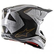 Casque Motocross Alpinestars S-M10 Alloy Silver Black