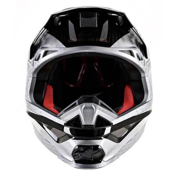 Casco de Motocross Alpinestars S-M10 Alloy Silver Black