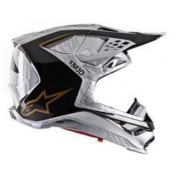 Motocross Helmet Alpinestars S-M10 Alloy Silver Black,Motocross Helmets