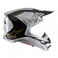 Motocross Helmet Alpinestars S-M10 Alloy Silver Black