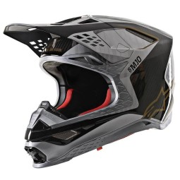 Casco Motocross Alpinestars S-M10 Alloy Silver Black