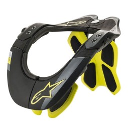 Motocross Neck Brace Alpinestars BNS Tech-2 Black Yellow,Motocross Neck Braces