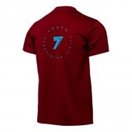 T-shirt Motocross Seven Revolution Maroon