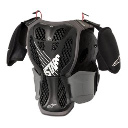 Pettorina Motocross Bambino Alpinestars A-5S Black Grey,Pettorine Motocross