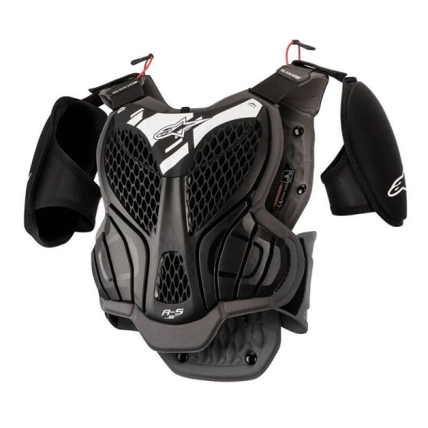 Peto Protector Motocross Nino Alpinestars A-5S Black Grey