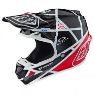 Motocross Helmet Troy Lee Designs SE4 Carbon Metric Black Red