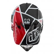 Casco de Motocross Troy Lee Designs SE4 Carbon Metric Black Red