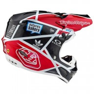 Motocross Helm Troy Lee Designs SE4 Carbon Metric Black Red