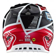 Casque Motocross Troy Lee Designs SE4 Carbon Metric Black Red