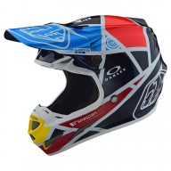 Motocross Helm Troy Lee Designs SE4 Carbon Metric Navy