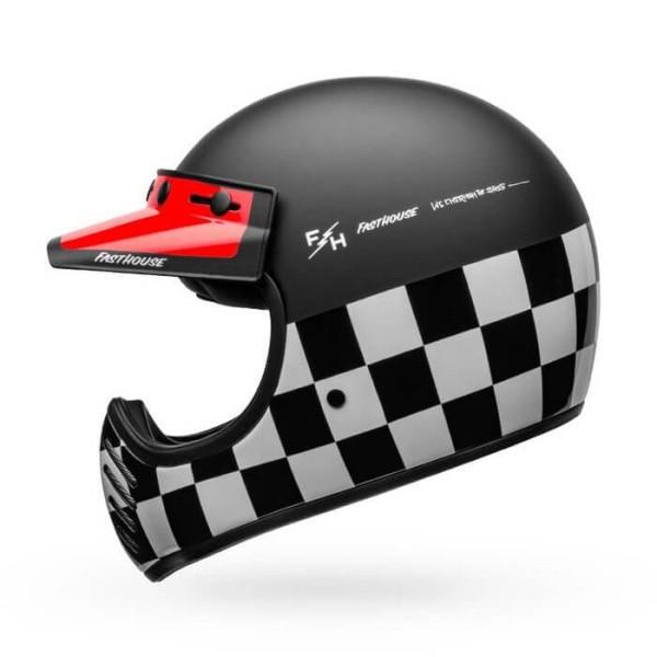 Casco de moto vintage Bell Helmets Moto-3 Fasthouse Checkers