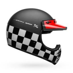 Casco moto vintage Bell Helmets Moto-3 Fasthouse Checkers