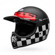 Motocross vintage helme Bell Helmets Moto-3 Fasthouse Checkers