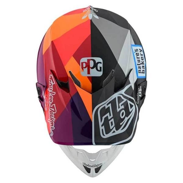 Casco de motocross Troy Lee Design SE4 Composite Jet Red