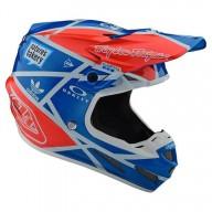 Motocross helm Troy Lee Design SE4 Composite Metric Ocean