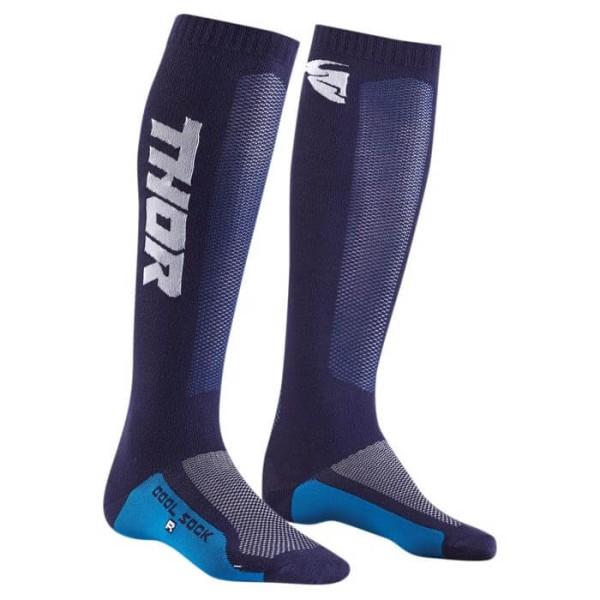 Chaussettes motocross enfant Thor MX Cool Sock Bleu