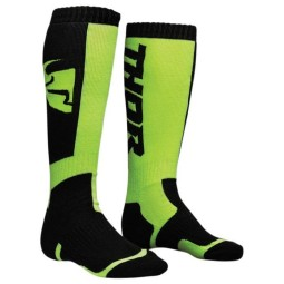 Calcetines de motocross niño Thor MX Sock Black Lime