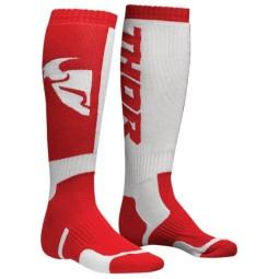 Calze motocross bambino Thor MX Sock white red