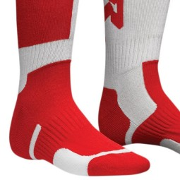 Chaussettes motocross enfant Thor MX Sock white red,Chausettes Cross
