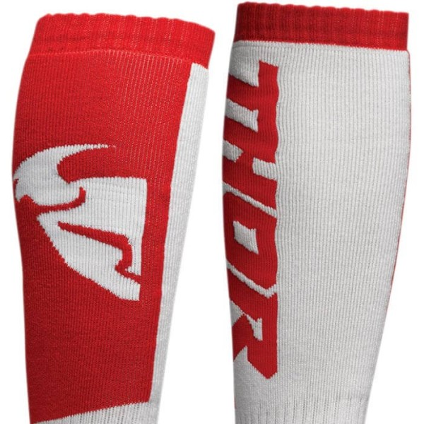 Motocross-Socken kind Thor MX Sock white red
