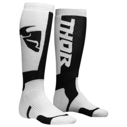 Calcetines de motocross niño Thor MX Sock white black,Calcetines Cross