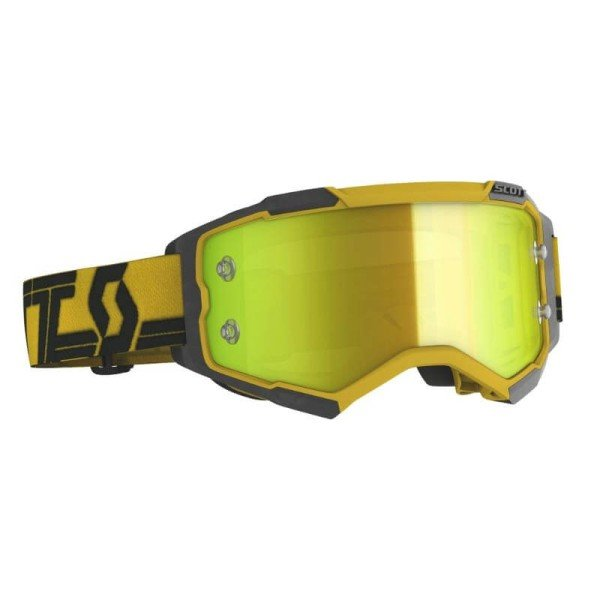 Lunettes motocross Scott Fury MX Enduro jaune noir