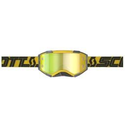 Lunettes motocross Scott Fury MX Enduro jaune noir,Masque et Lunettes Motocross