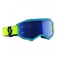 Motocross goggles Scott Fury MX Enduro blue yellow fluo